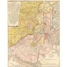 3049   Fritsch, J. Christian G.: Carte von dem District Landes, so von der Lubeckschen Landwehr an, zwischen der Streckenitz, Delvenau, und der Traven belegen, gräntzet und rühret auff die Bille, und sich breitet und wendet bis an Lauenburg. In einem ange