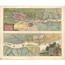 3055   Himmerich, Johann / Schenk, Petrus: Eine Accurate charte v. d. Elbe-Strohm.  1710