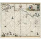 3062   Keulen, Johannes van: Nieuwe Paskaert vande Gheheele Westersche Scheep-Vaert, op Nieus uyt Ondervindinghe van Schrander Stierlieden Naaukeurigh Geteeckent en Samen Gebracht.  1682