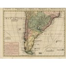 3071   Châtelain, Henri Abraham: Carte du Paraguai, du Chili, du Detroit de Magellan & c.  1713