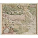 3083   Keulen, Johannes van: Paskaart vande Jade, Weser en Elve; met een gedeelte van Emderland.  1688