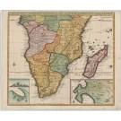3088   Leth, Henry de: Carte de l´ Afrique Meridionale ou Pays entre la Ligne & le Cap de Bonne Esperance et l´ Isle de Madagascar.  1740
