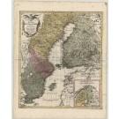 3091   Lotter, Matthias Alberti: Charta Nova exhibens Regnum Sueciae et Gothiae una cum Nordlandia et Nagnu Ducatu Finnlandiae. 1760
