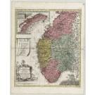 3092   Lotter, Gebrüder: Regnum Norwegiae Divisumin Quatuor Collegia quae Dicuntur Aggerhus, Christiansand, Bergen et Trondheim. // Nordland et Finmarken sub Colleg. Trondheim. 1760