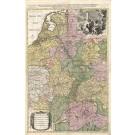 3114   Schenk, Petrus / Sanson, Nicolas: Le Cours de la Riviere du Rhein depuis sa Source jusques a son Emboucheure  1710