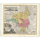 3116   Homann, Johann Baptist: Saxoniae Tractus Ducatum Magdeburgensem  1720