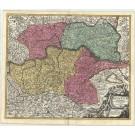 3123   Homann, Johann Baptist : Archiducatus Austriae Inferioris  1720