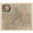 3125   Danckerts, Theodor : Archiepiscopatus ac Electoratus Trevirensis et Eyfalia tractus Novissima et Accuraissima Tabula. 1690