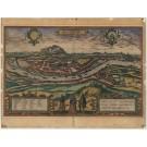 3138   Braun & Hogenberg: Salzburgk - Recens et accuratissima urbis Salisburgensis delineatio. 1582