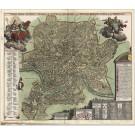 3141   Homann, Johann Baptist : Urbis Romae Veteris, Modernae Accurata Delineatio.  1730