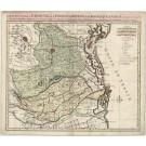 3153   Covens / Sanson: Carte nouvelle du Paduana et .... De la Republique de Venise  1692