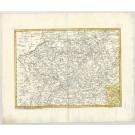 3189   Homann Erben: Herzogthum Westphalen  1750