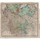 3196   Güssefeld, F.L. (Verlag des Industrie Comptoirs, Weimar) : Charte vom Niedersächsischen Kreise  1800