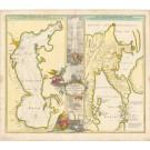 3206   Homann, Johann Baptist : Geographica Nova ex Oriente gratiosissima ...  1730