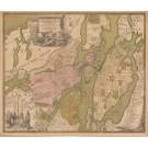 3209   Homann, Johann Baptist: Accurater Grundriss und Prospect der Kön. Schwed. Reichs u. Hauptstadt Stockholm  1720