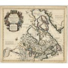 3242   Covens & Mortier / Delisles, Guillaume : Carte du Canada  1730