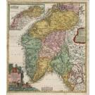 3267   Homann, Johann Baptist: Regni Norvegiae Accurata Tabula in qua Praefecturae quinque Generales  1720