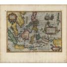 3270   Hondius, Jodocus / Mercator, Gerard: Insulae Indiae Orientalis praecipuae in quibus Moluccae celeberrimae sunt. 1606