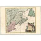 3288   Santini,P. / Remondini,M.: Partie Orientale du Canada, avec la Nouvelle Angleterre, l´ Acadie, et la Terre-Neuve, par le S. D´Anville  1776