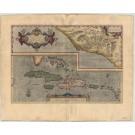 3296   Ortelius, Abraham: Culiacanae, Americae Regionis, Descriptio //  1612                                                                                  Hispaniolae, Cubae,Aliarumque Circumiacientium, Delineatio
