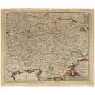 3311   Danckerts, Justus: Circuli Austriaci in quo sunt Archiducatus Austriae, Ducatus Stiriae, Carinthiae, Carniolae, Comitatus Tirolis et Episcopatus Tridentini  1680