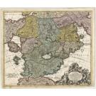 3335  Officina Homanniana:  Accurata Utopia Tabula, Das ist Der Neu entdeckten Schalck Welt, oder des so oft benannten,  und doch nie erkanten Schlarraffenlandes.  ab 1700