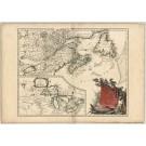 3355   Robert de Vaugondy : Partie de l´Amerique Septent? qui comprend La Nouvelle France ou le Canada  1755
