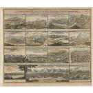 3356   Homann, Johann Baptist : Verschiedene Prospecte der vornemsten Städten in Persien  1720