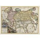 3357   Ottens: Carte Nouvelle de tout l'Empire de la Grande Russie  1740