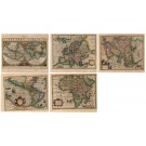 3413   Mercator, Gerard : Typus Orbis Terrarum (set of 5 minor maps)
