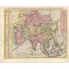 3417   Châtelain, Henri Abraham: Nouvelle Carte de l'Asie, avec des Tables Alphabetiques pour Trouver...  1705