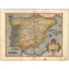 3423   Ortelius, Abraham: Regni Hispaniae Post Omnium Editiones Locuplessima Descpritio.  1573