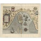 3441   Linschoten, Jan Huygen van: Insulae et arcis Mocambique descriptio  1596