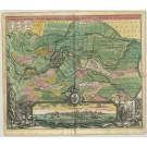 3448   Homann, Johann Baptist : Bremen Prospekt und Grundris der Keiserl. Freyen Reichs und Ansee Stadt Bremen  1730