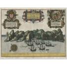 3452   Linschoten, Jan Huygen van: Insula D. Helena sacra …  1589