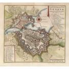 3813  Tirion, Isaac: Grondtekenig van de Stad Geneve 1760
