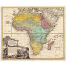 3876  Homann Erben: Africa Secundum legitimas Proiectionis Stereographicae regulas 1737