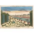 5124 Paul André Basset, nach Jacques Chéreau: Vue du Parterre du Prince de Hambourg. 1760
